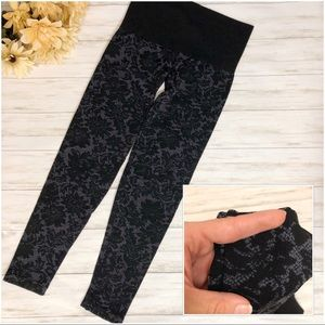 Soma Lace Print Slimming Leggings High Waist